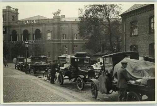 Fragtmandsholdeplads 1929 på Axeltorv