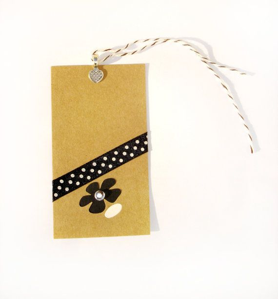 Gift Paper Card Gift Tags  Brown/Black by ScrapCati on Etsy, $6.50