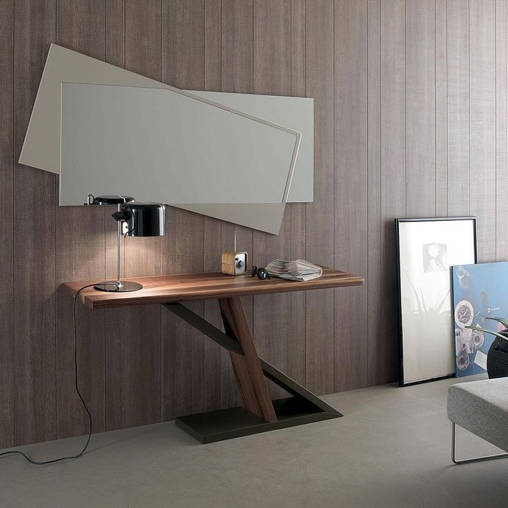Contemporary walnut wood console table Zed by Compar