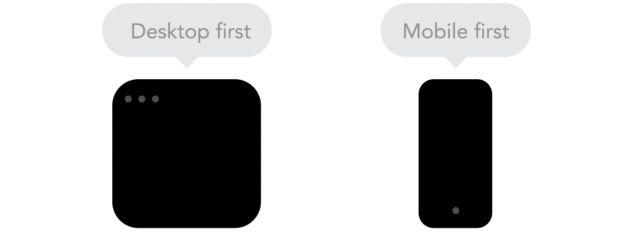 8. Filosofía Desktop first versus Mobile First Este punto quizás sea el más discutible por los diseñadores donde la tendencia apunta y defiende las ventajas del mobile first, empezar diseñando para dispositivos de baja resolución. Sandijs Ruluks no lo ve así y en su herramienta Froont da la opción de empezar por una u otra. No cree que exista mucha diferencia entre usar una u otra.