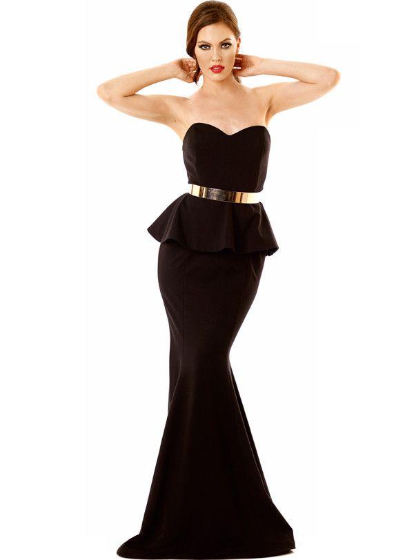 Nicole Bakti Strapless Formal Gown