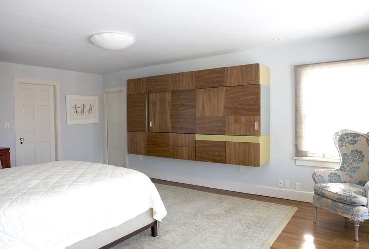 Bedroom storage: New Jersey Residence / Master Bedroom Suite - featuring TV Quilt