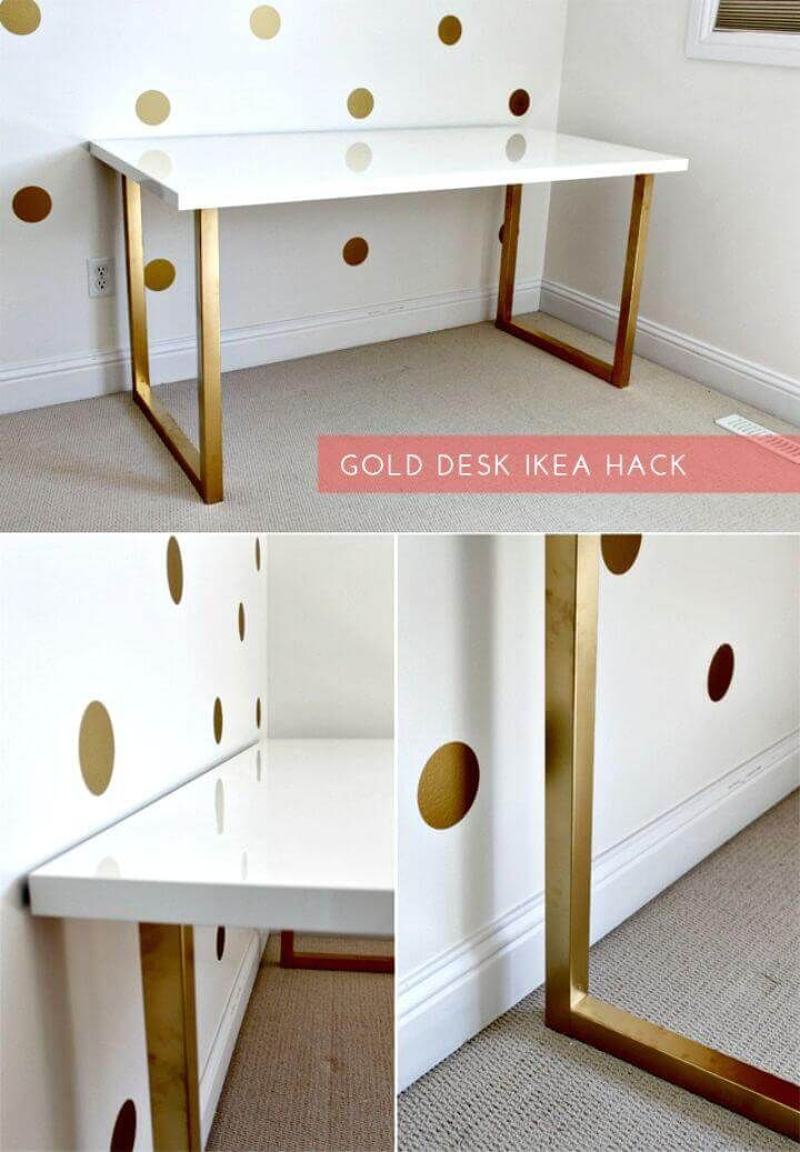 25 Budget Friendly Diy Desk Ideas To Make A Truly Great Workspace Home Diy Home Decor Ikea Desk