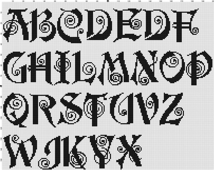 Knitting Cursive Letters : Best images about alphabet charts on pinterest