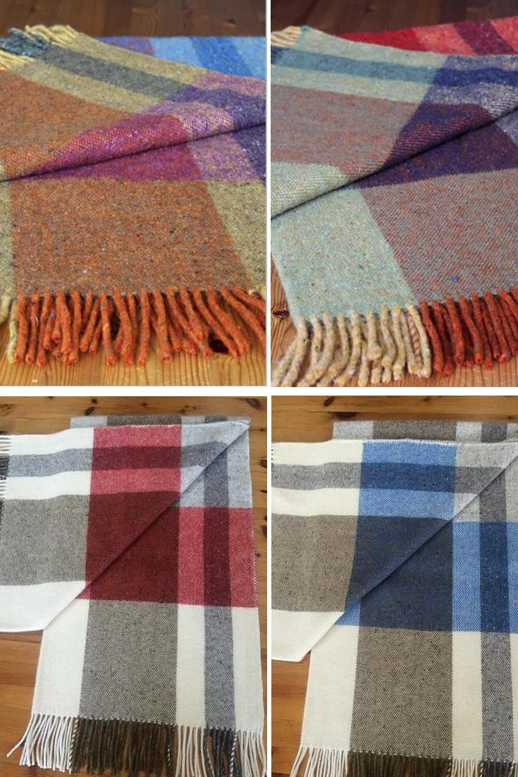 Mediterranean Throws Handwoven by Studio Donegal #handweaving #throws #blankets #Donegal #studiodonegal