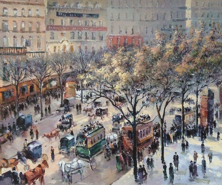 Boulevard des Italiens, 1897 by   Camille Pissarro
