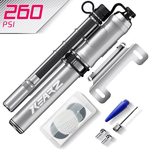 Bike Frame-Mounted Pumps - 260 PSI Mini Bike Pump Schrader  Presta Bike Pump Bicycle Tire Pump With Hose For Any Bikes Bike Air Shocks  BONUS Puncture Repair Kit Ball Needle  Balloon Valve *** Click on the image for additional details.