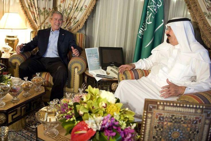 George W Bush meets Saudi Arabia's King Abdullah