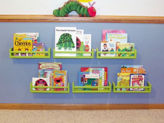 Would Love To Do This To Ryans Room IKEA Spice Racks For Books For