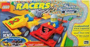 Lego Racers Super Speedway Game by LEGO. $47.51. Build the included race cars or custom design your own with parts from your own collection!. Includes four LEGO race car driver minifigures!. For 2-4 players. Contains 110 LEGO pieces, for ages 7+. Six track layouts are shown, but there are unlimited layouts that can be created! Over seven feet of total track length!. Build your own Lego racer, design your race track layout, and let the race begin! Choose one of th...