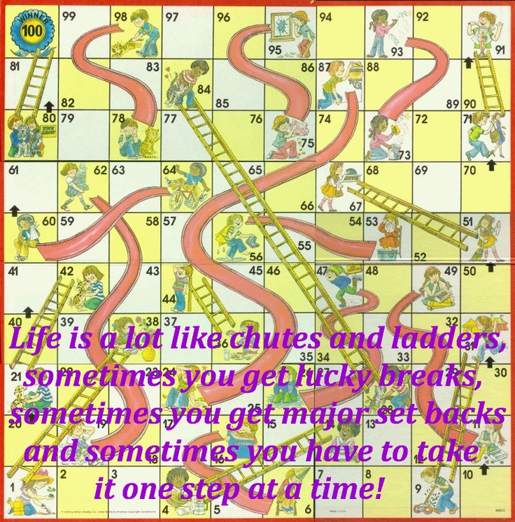 Chutes and Ladders= Life! | Words to Live By | Pinterest