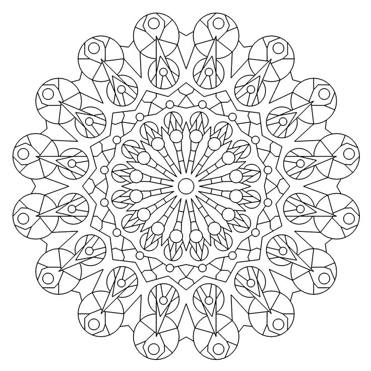 kaleidoscopes coloring pages - photo#19