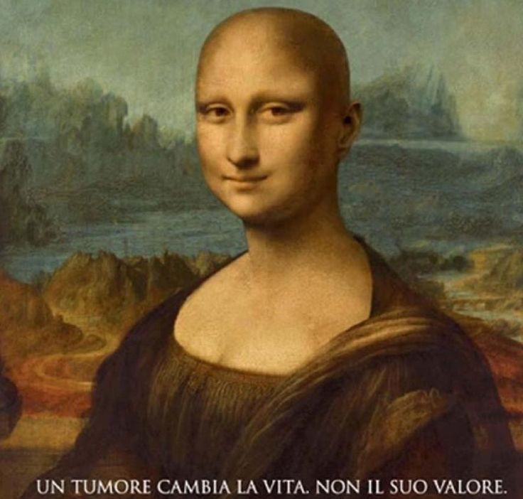 Mona Lisa goes bald for a campaign against cancer! [In Spanish]