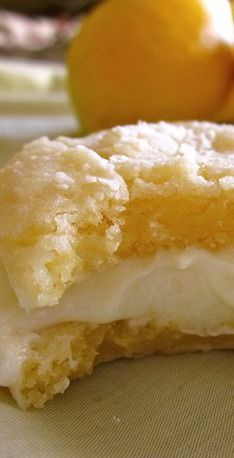 Lemon Crinkle Cookies with Lemon Frosting - The Food Charlatan