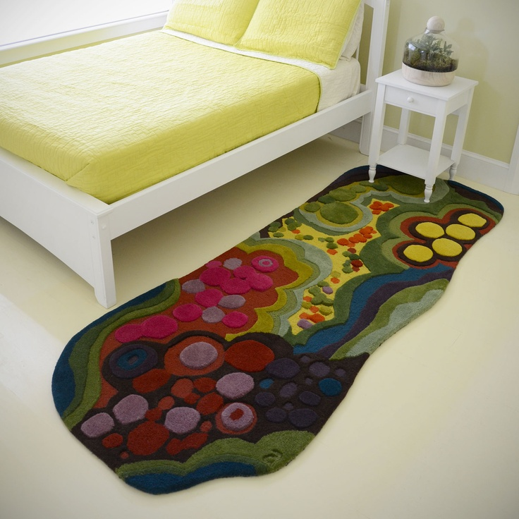 beautiful 100% wool rug available from http://www.angelaadams.com/