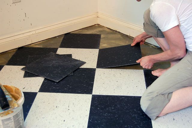 Laying vct flooring.  Good instructions for DIY.