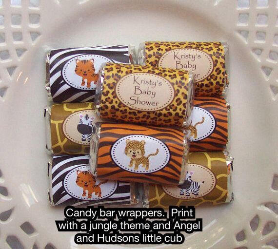 Safari baby shower soap wrappers