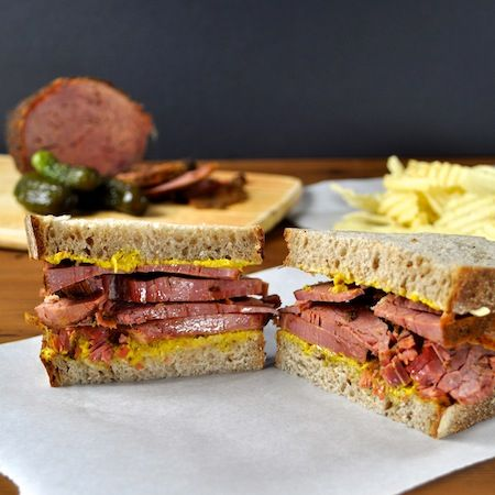 Homemade Pastrami with a pressure cooker, slow cooker or in oven (super easy!) - never, ever buy that cold, slippery, over salted tasteless stuff from the deli again!