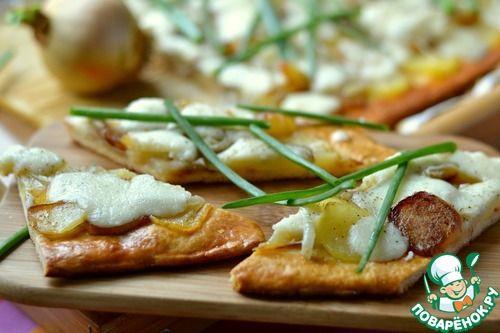 Пирог с картофелем и брынзой - кулинарный рецепт