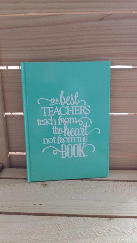 Notitieboek mint groen #notitieboekje #bedankje #mintgroen #meester #juf