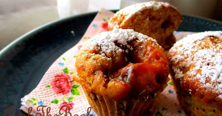 apple caramel muffins with poppy seeds