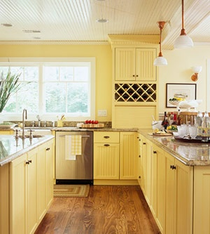 351 best images about for the home on pinterest shelves for Brightly painted kitchen cabinets