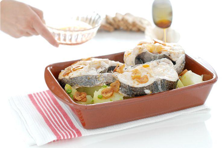 A esta receta de Merluza a la gallega no le falta de nada y puedes prepararla en…