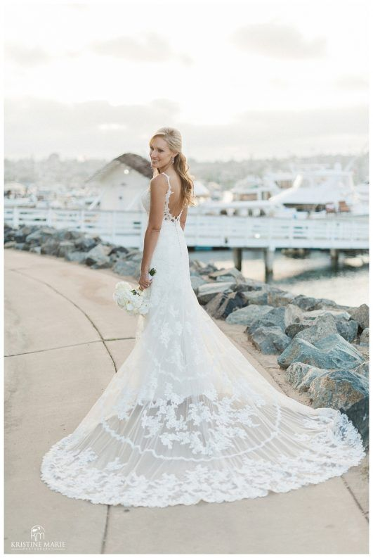 Best Beautiful Open Back Wedding Dress Lace Train Romantic Bali Hai Wedding Pictures San Diego