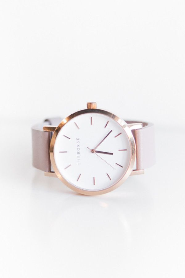 The Horse Watch Polished Rose Gold, Blush Leather Band – Parc