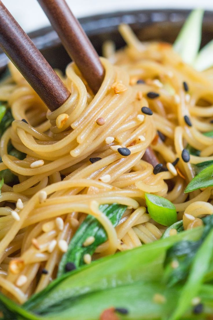 - swap out soy for coconut aminos and GF noodles