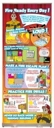 Fire Ready Every Day! Presentation Display - Teach children about the importance of smoke detectors, how to make a fire escape plan, and fire drills at home and school.