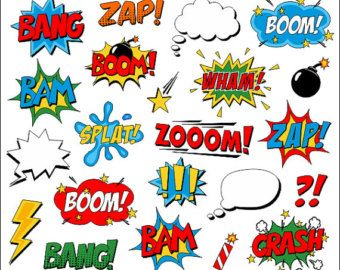 Superheld Mädchen Clipart Comic Book Clip Art Comic von YarkoDesign