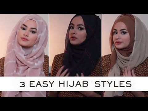 Hijab Tutorial For 3 Easy Hijab Styles with Ruba Zai @ Hijab Hills - YouTube