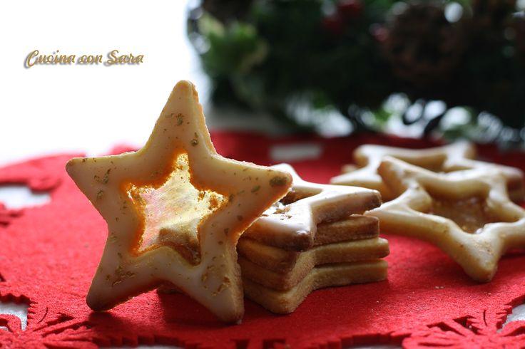 Biscotti di natale con vetrino - da gustare o appendere all'albero
