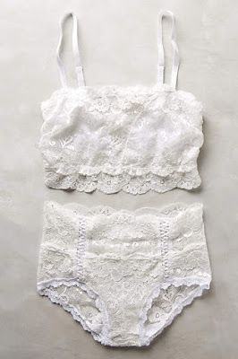 Gorgeous white lace. So feminine & sexy. Would love a matched lingerie set. Love that it's cotton and not a synthetic material. Also like the tap pants shape.