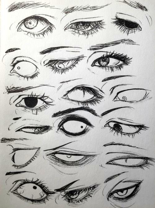 Zeichnungen, Manga, Anime, Augen, 18 Designs, zur Verbesserung Ihrer Zeichnung.