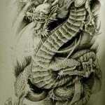 Oriental Dragon Tattoo Style (21)