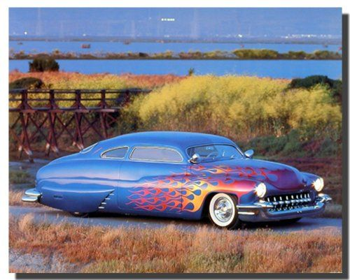 Simply Wow! If you want to add style and class on your empty, dull walls add this charming Custom Mercury Ron Kimball vintage classic car art print poster. Your guests will definitely compliment you for your excellent taste. Hurry up and grab this wonderful wall poster for its durable quality and high degree of color accuracy.