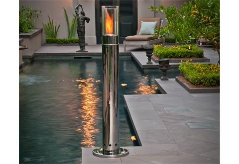 a backyard fire pillar.