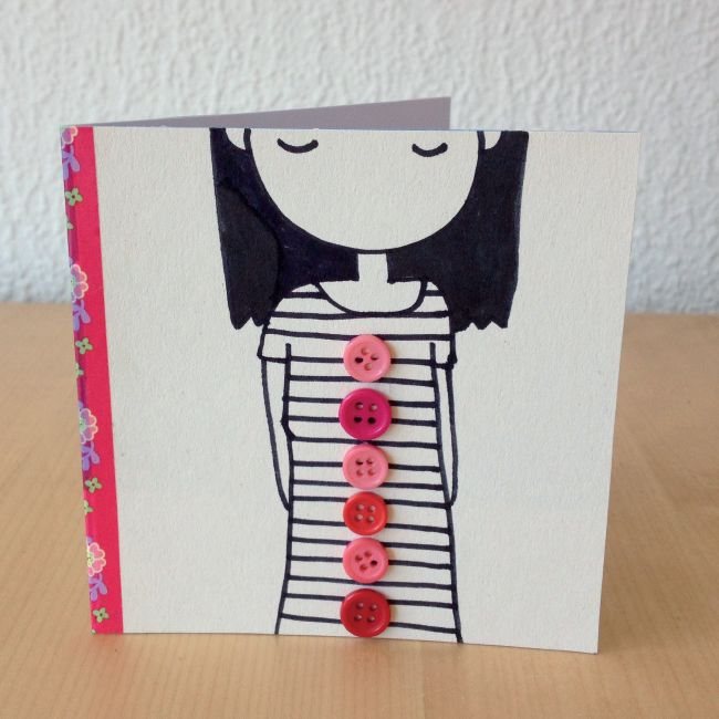 What a cute DIY card idea / Snailmail Magazine (Nederlands blog): KNOPEN