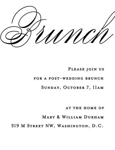 Calligraphy Wedding Brunch Invitation | Paper Source