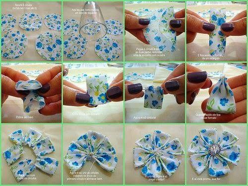 Wonderful DIY Beautiful Fabric Flowers In 6 Ways   WonderfulDIY.com