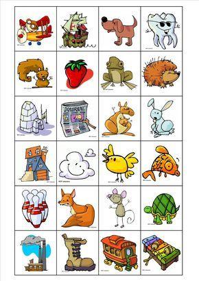 Voici un loto de phonologie.   Il faut imprimer les planches et les images, les couper et les plastifier.   Les enfants choisissent un let...
