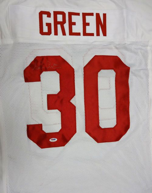 Ahman Green Autographed Nebraska Cornhuskers White Jersey PSA/DNA