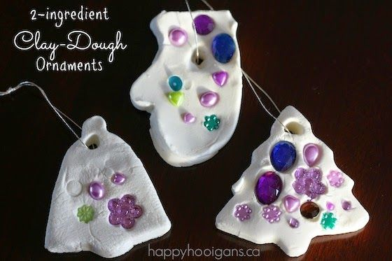 Easy Homesteading: 2 Ingredient White Clay Dough Ornaments