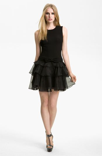 Rachel Zoe 'Judi' Ruffled Crepe Dress | Nordstrom falltrends. Great party dress!