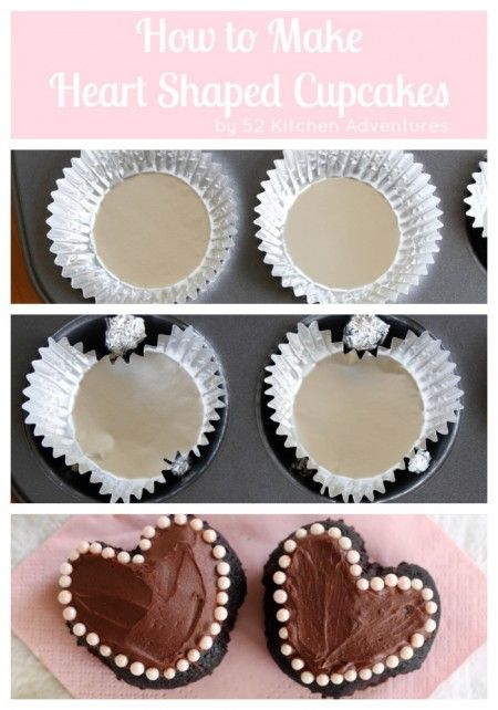 How to Make Heart Shaped Cupcakes