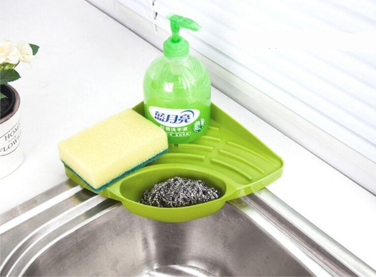 Kitchen Sink rak penyimpanan sudut, Spons pemegang, Wall mount