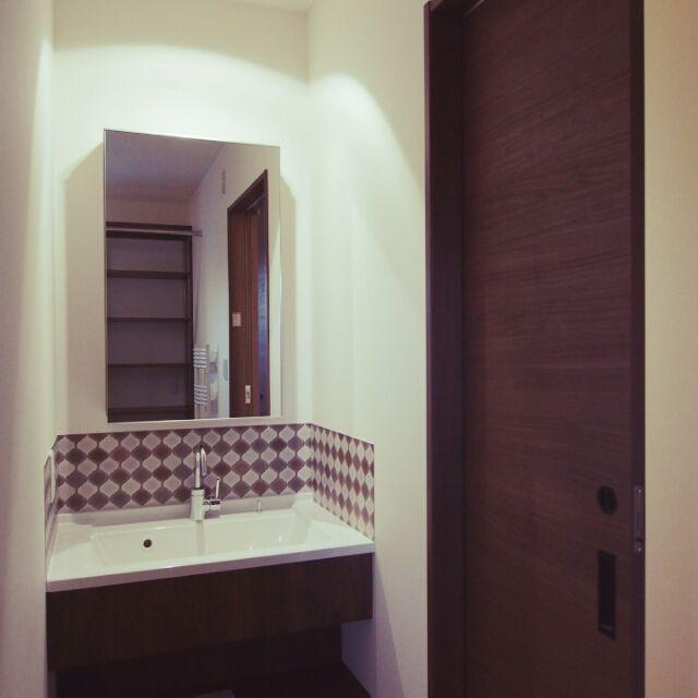 Yukiさんの、スワンネック水栓,かっこいい,収納,洗面台,Panasonic,のお部屋写真