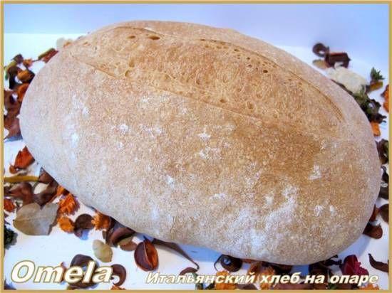 Итальянский хлеб на опаре в духовке